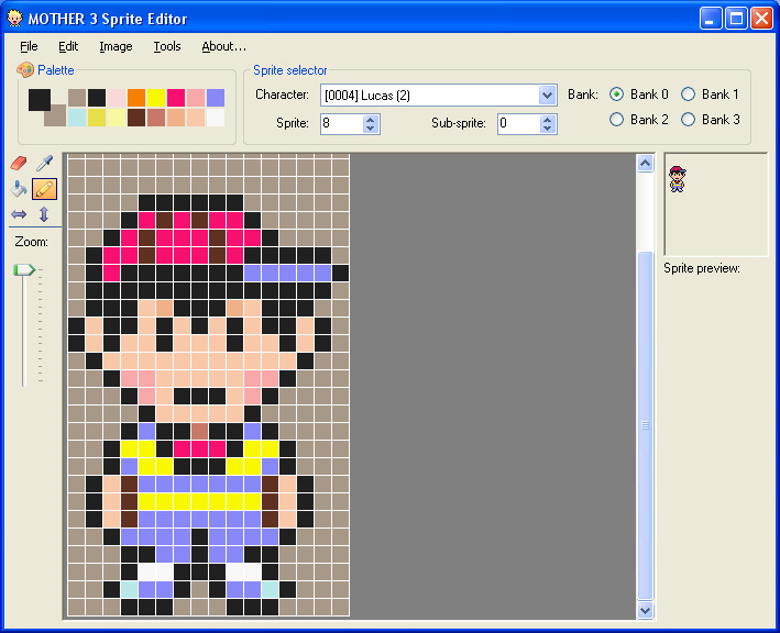 MOTHER 3 Sprite Editor - your chance to test it! « PK Hack « Forum