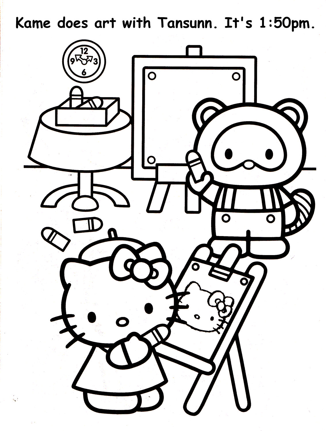 old radio drawing coloring coloring pages