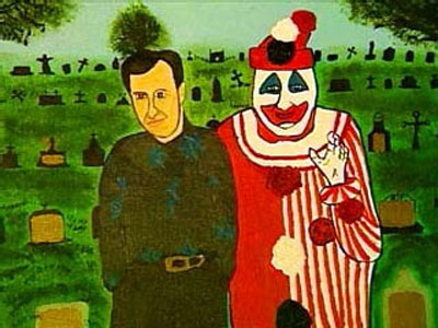 john wayne gacy paintings. john wayne gacy artwork.