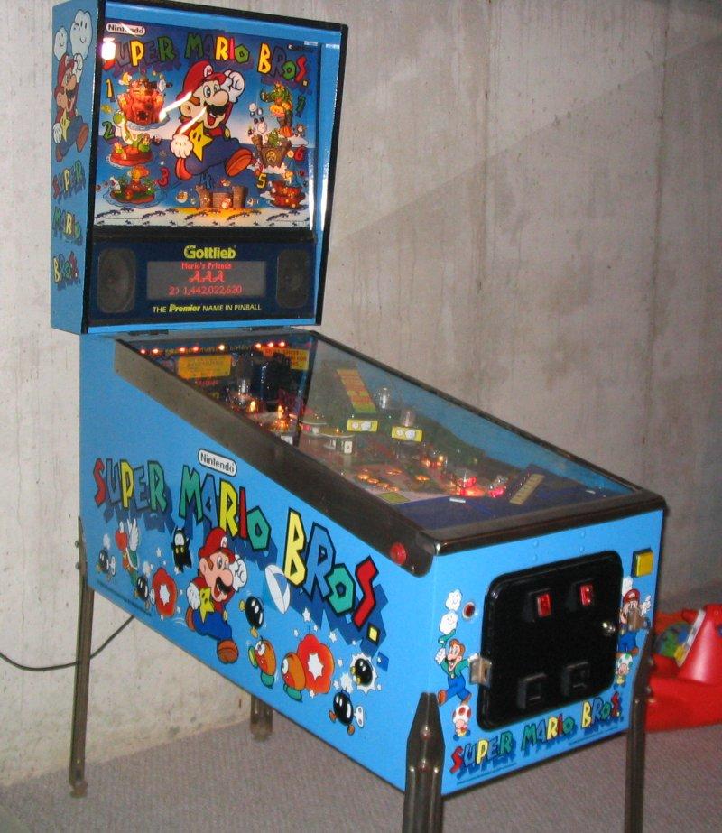 mario pinball machine