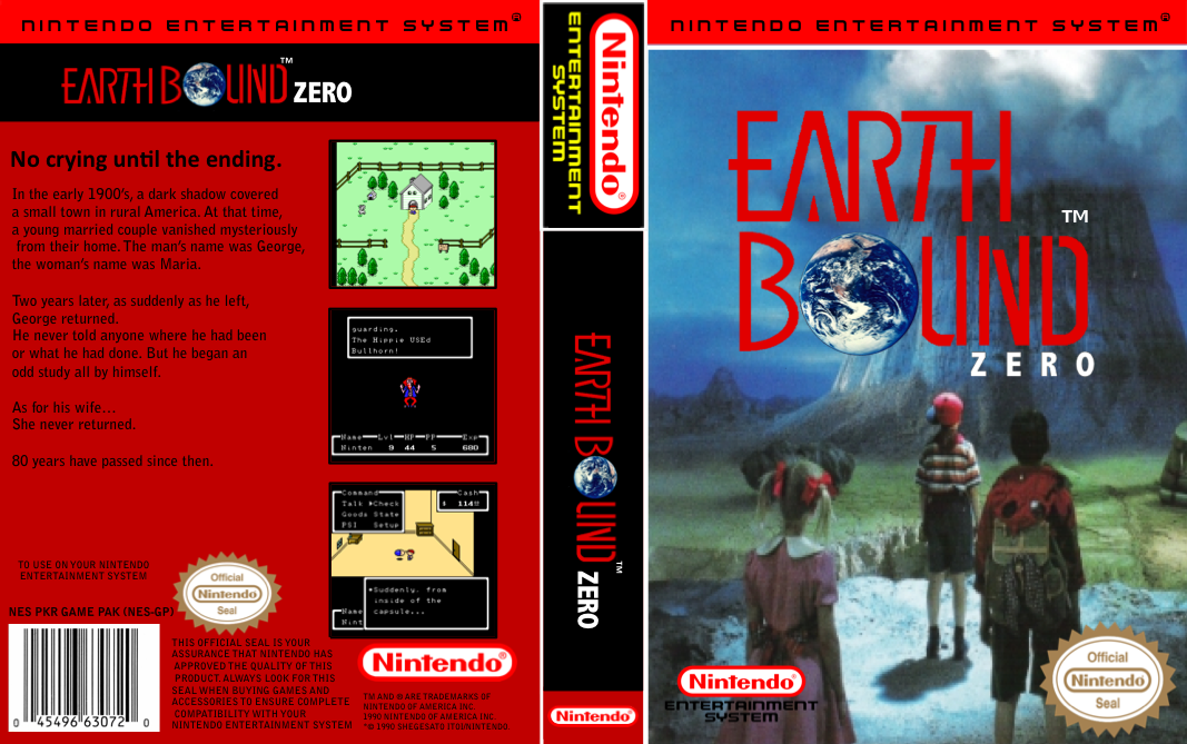 EarthBound Zero NES Label « EarthBound Beginnings / MOTHER 1