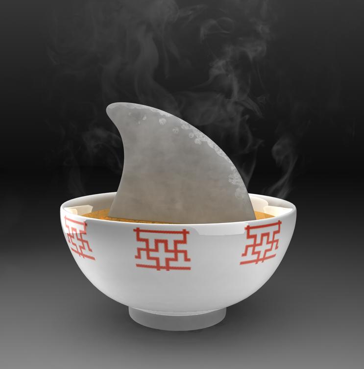 shark fin soup ...
