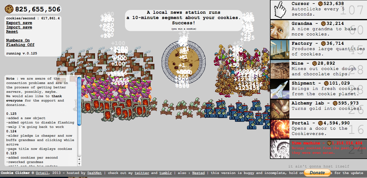 Cookie Clicker: Legacy Update « Beyond EarthBound « Forum