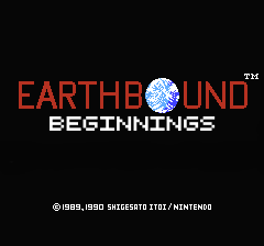 EarthBound Beginnings (Faithful title screen) « PK Hack « Forum